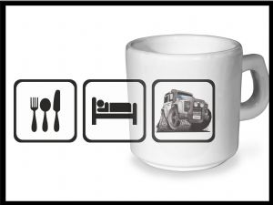 Koolart EAT SLEEP Design For Land Rover Defender Twisted - Ceramic Tea Or Coffee Mug